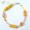Sunset Paper Bead Bracelet