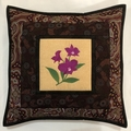 Australiana cushion cover - 'Cooktown Orchid'