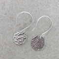 Sterling Silver DISC EARRINGS, Upcycled from Vintage Silverware.