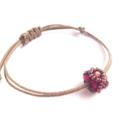 Pandora Style/ Boho Chic Bracelet/ Minimalist - Matte Ruby Copper
