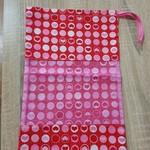 Red Hearts Dance Shoe Bag
