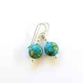 Earrings Ocean Jasper and Sterling Silver