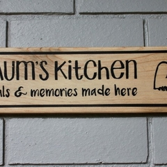 Mum's Kitchen Reclaimed Timber Sign