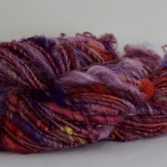 Purple core spun yarn