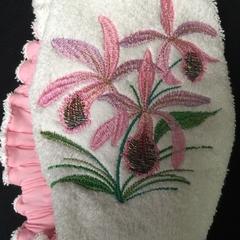 Ladies After Shower Towel Cap-Orchid 1/2
