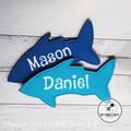 Kids Personalised Icy Pole Holder * Zooper Dooper * Icypole Mermaid Shark