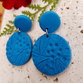 Polymer Clay Earrings, Flower Design, Clay Dangles, Blackwood Lily