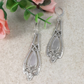 Sterling Silver SPOON EARRINGS.  Upcycled  from Art Nouveau Vintage Spoons.