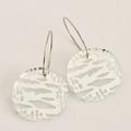 Silver Cloud Orb Earrings