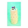 Medium Ceramic Bud Vase with Tiny House and Pond