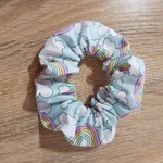 Rainbow Print Scrunchies