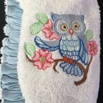 Ladies After Shower Towel Cap- Owl Branch 1/1