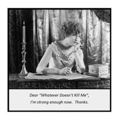 "Funny Vintage Photo Magnet | Dear ""Whatever Doesn't Kill Me"""