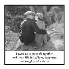 Funny Vintage Photo Magnet | Husband Wife Partner Gift | Grow old together