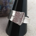 SPOON RING, Sterling Silver, for Men or Women. Upcycled Silverware Jewellery.