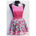 Ladies apron flare skirt Floral Fantasy