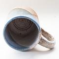Coffee mug - Handmade Stoneware 'Blueberry Crumble' Blue white