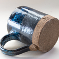 Coffee mug - Handmade Stoneware 'Silver Liquorice' Blue and black