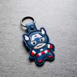 Captain America Chibi Embroidered   Keyring
