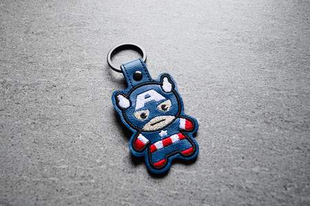 Captain America Chibi Embroidered   Keyring