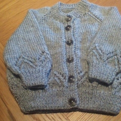 Babies Light Grey Cardigan to fit 6 to 12 months.