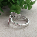 LEAF SPOON RING, Upcycled from Solid Silver Vintage Fork.