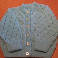 Babies Aqua Cardigan to fit size 3 to 6 months