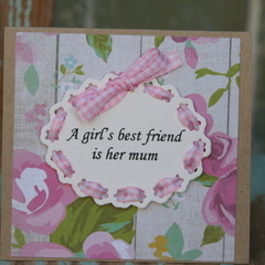Mini Birthday card for Mum Inspirational Card Just Because for Mum