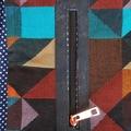 Autumn tones, Tulip style tote handbag