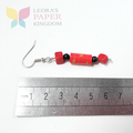 Red Paper Bead Earrings
