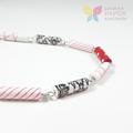 Scarlet Sensation Paper Bead Necklace