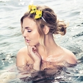 L E M O N S Yellow Leather Crown,Headband, Leather Flower Headpiece