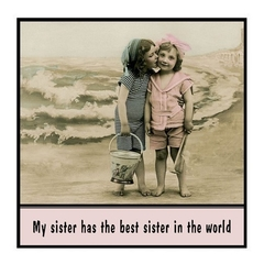 Funny Sister Gift Magnet | My sister has the best sister in the world