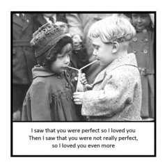Heartfelt Vintage Photo Magnet | Husband Wife Partner Gift | Loved you even more
