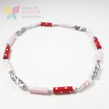 Scarlet Sensation Paper Bead Necklace