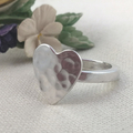 Unique HEART BAND RING, Sterling Silver. Upcycled from  Vintage Silverware.