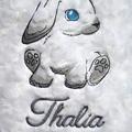 Custom Embroidered Rabbit Baby Blanket