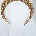 L A D Y • H E L E N A • Gold Crown,Fascinator,Tiara, Headpiece