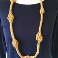 Handmade lightweight knitted necklace