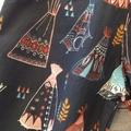 Organic cotton harem pants size 3-6 months, navy teepee design