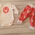 Baby girl size 3-6 months pink deer outfit