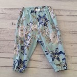 Size 6-12 months blue floral pants, baby girl clothes size 0