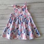 Size 18 months pink and blue floral shoulder tie dress