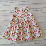 Size 18 months white with colourful rainbows dress