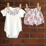 Choose your size, baby girl floral outfit , sizes to 18 months