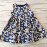 Size 2 navy dress, Australian animals print
