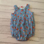 Baby girl retro tea party playsuit, size 3-6 months