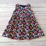 Navy Rainbow dress size 4 // handmade dress