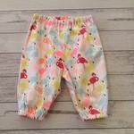 Size 0-3 months flamingo pants, baby girl pants