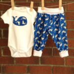Baby boy royal blue whale outfit, choose your size and bodysuit sleeve length